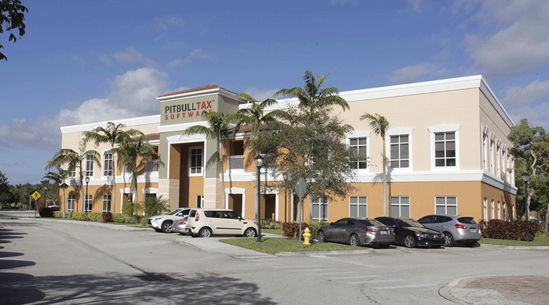 Photograph of PitBullTax's headquarters in Florida.