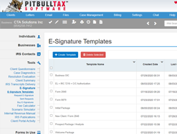 PitBullTax e-Signature Integration with DocuSign®
